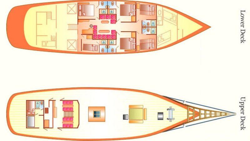 raja laut boat layout phuket yachting charters